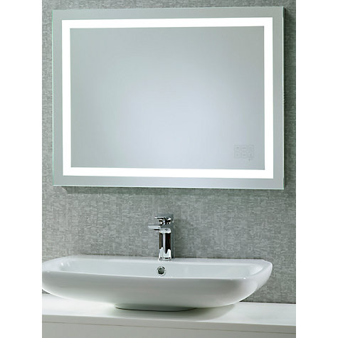 Bathroom mirror backlit