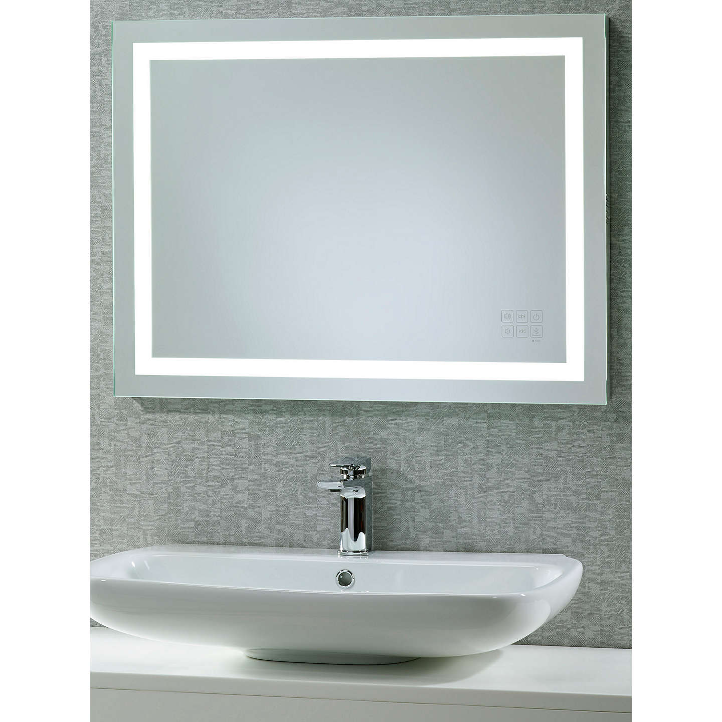 bathroom mirror with radio roper beat illuminated led bathroom mirror with 16269