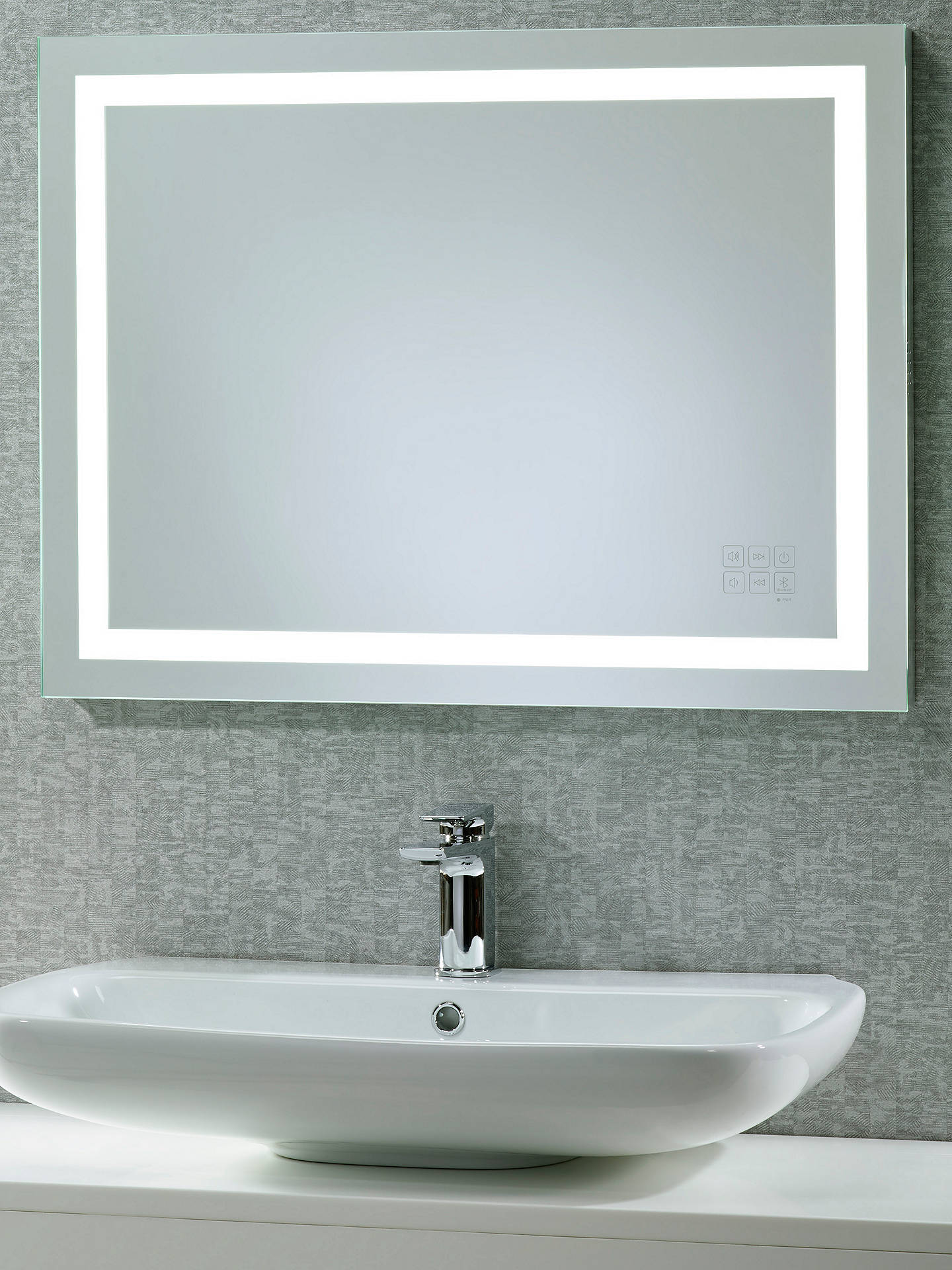 Roper Rhodes Beat Illuminated Led Bathroom Mirror With Integrated Stereo Online At Johnlewis