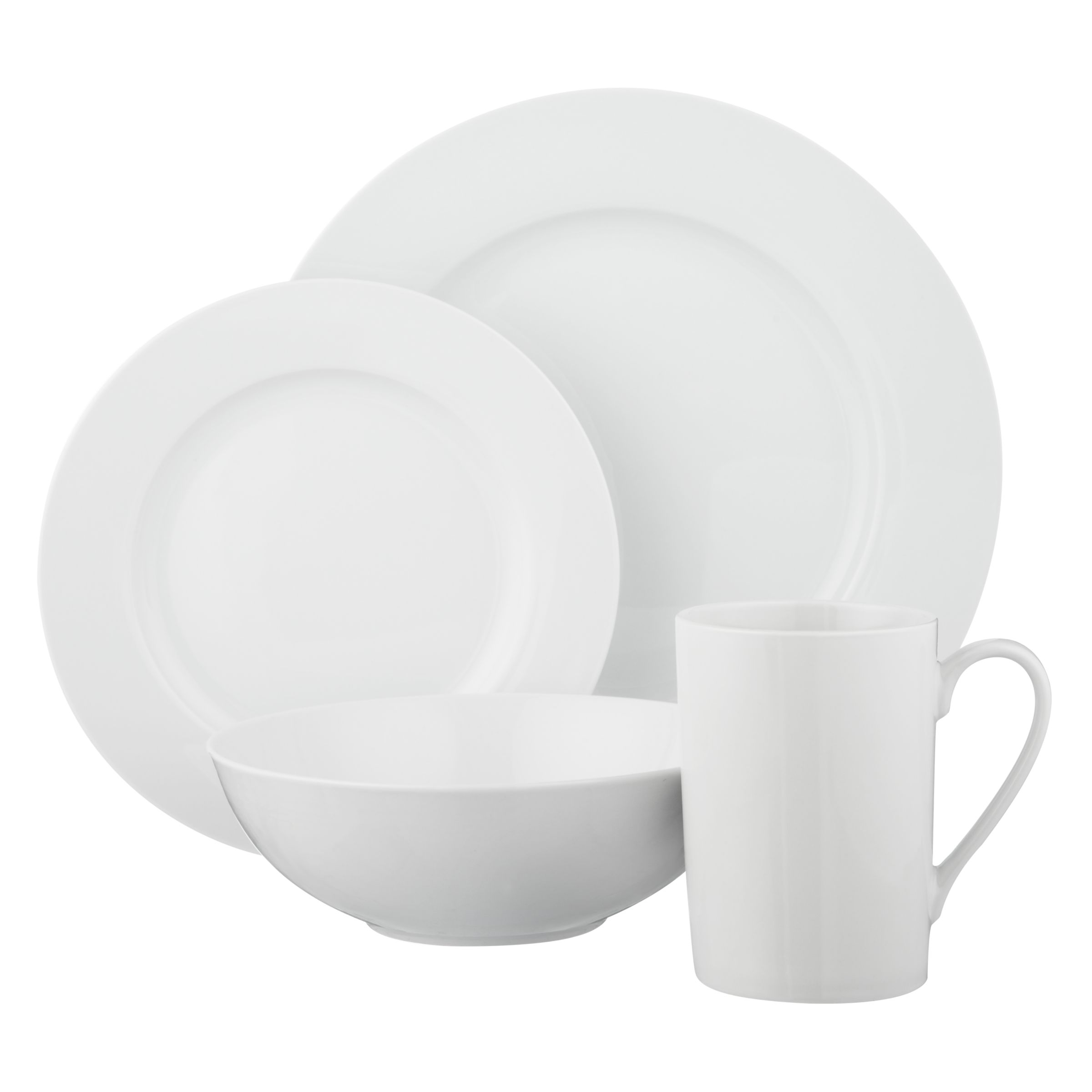 John Lewis The Basics Tableware Set 8 Piece At John Lewis Partners