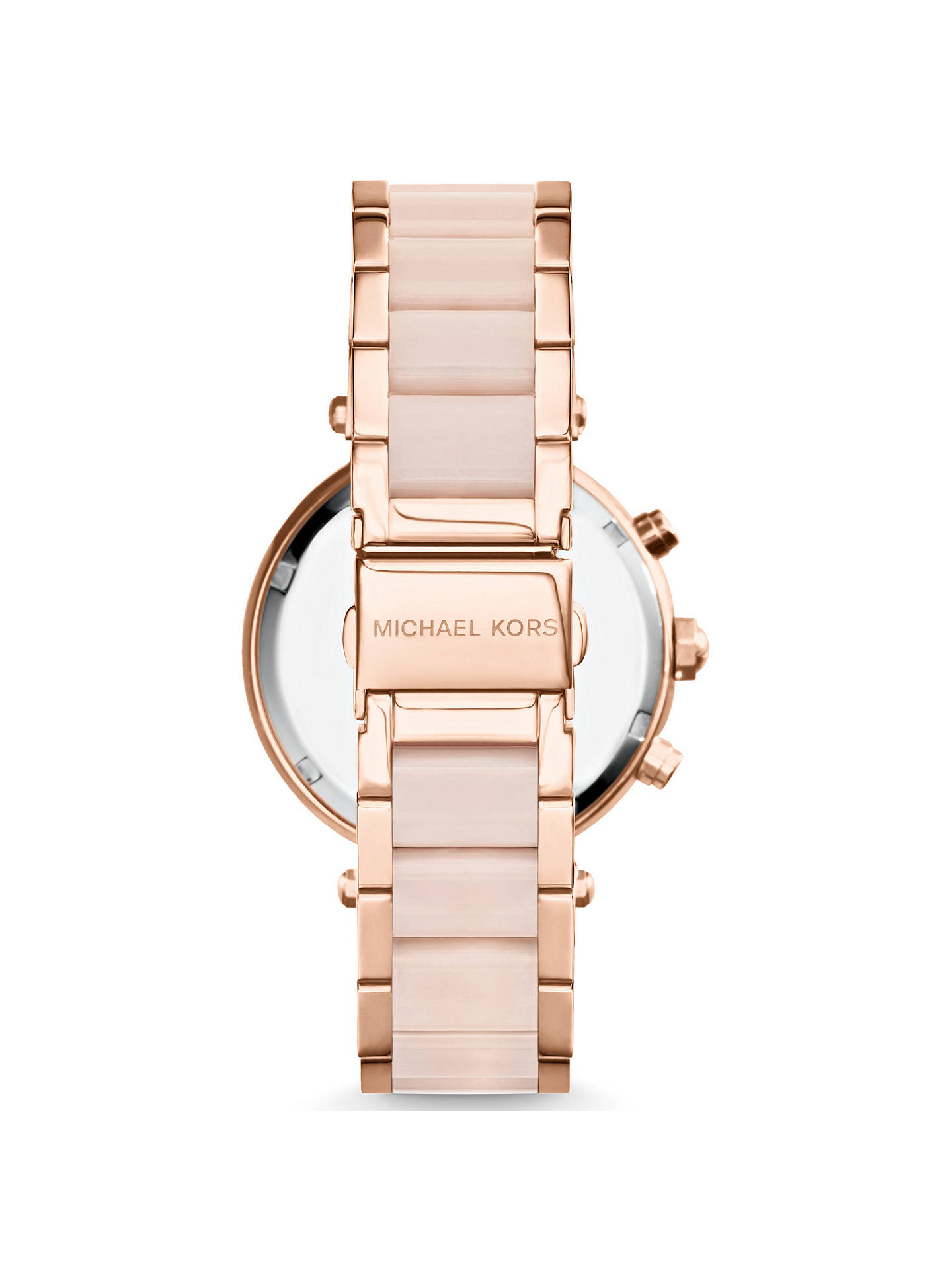 BuyMichael Kors MK5896 Women's Parker Chronograph Bracelet Strap Watch, Multi/Blush Online at johnlewis.com