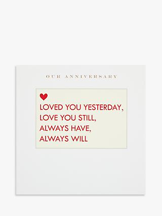 Susan O'Hanlon Fill in the Blanks Anniversary Card