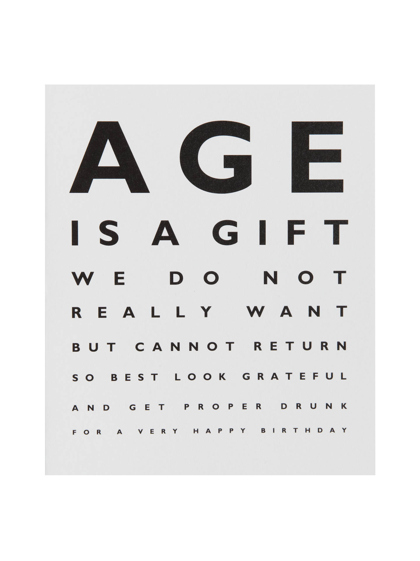 Buy Portfolio Age Is A Gift Birthday Card Online At Johnlewis