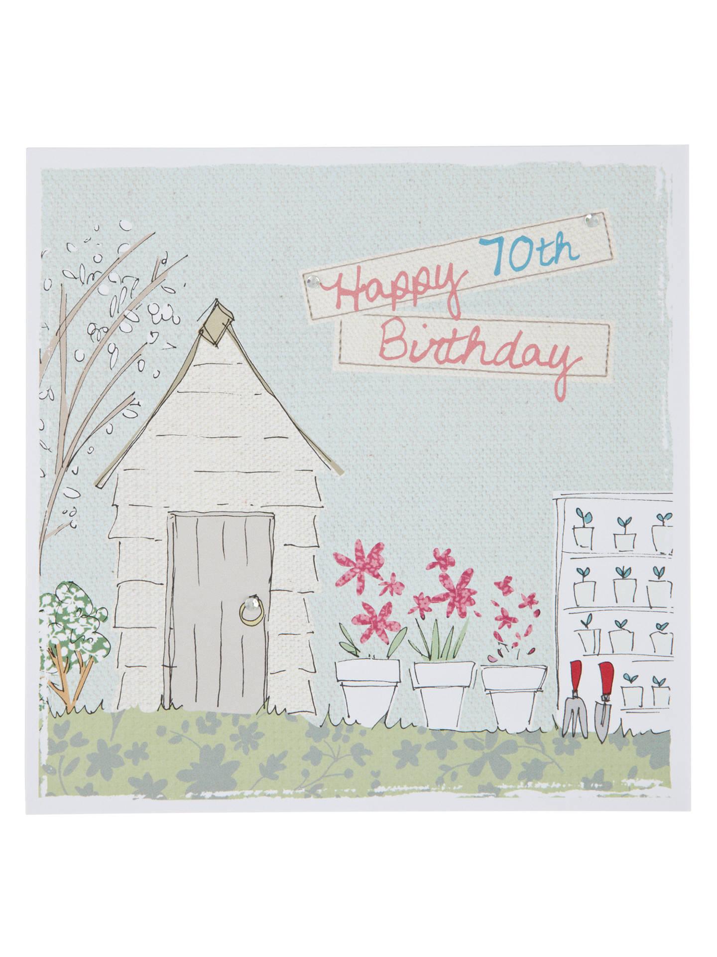 BuySaffron 70th Birthday Card Online At Johnlewis