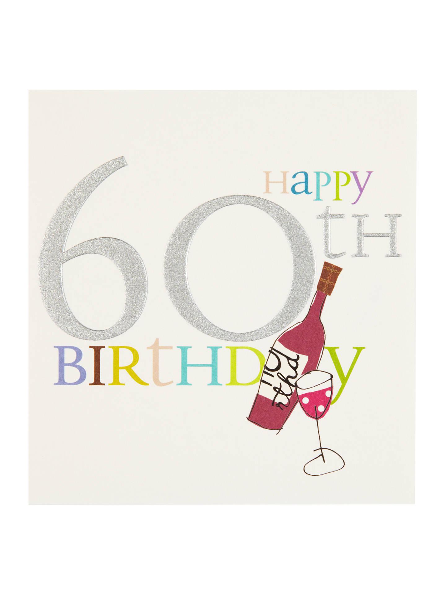 Caroline Gardner Wine 60th Birthday Card At John Lewis Partners