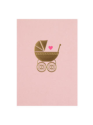 Buy Lagom Designs Baby Girl New Baby Card Online at johnlewis.com