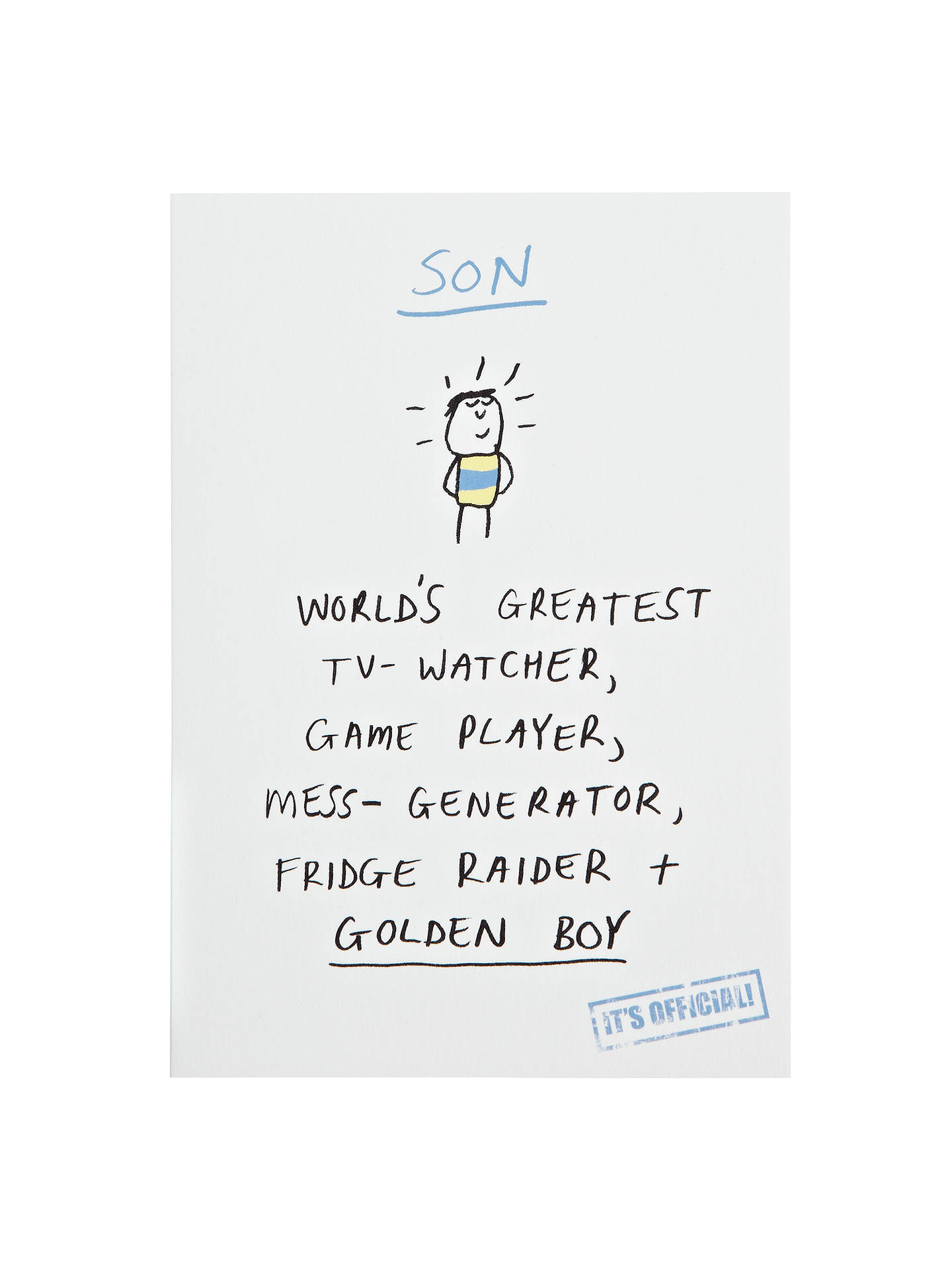 Buy Woodmansterne Most Superb Son Birthday Card Online At Johnlewis