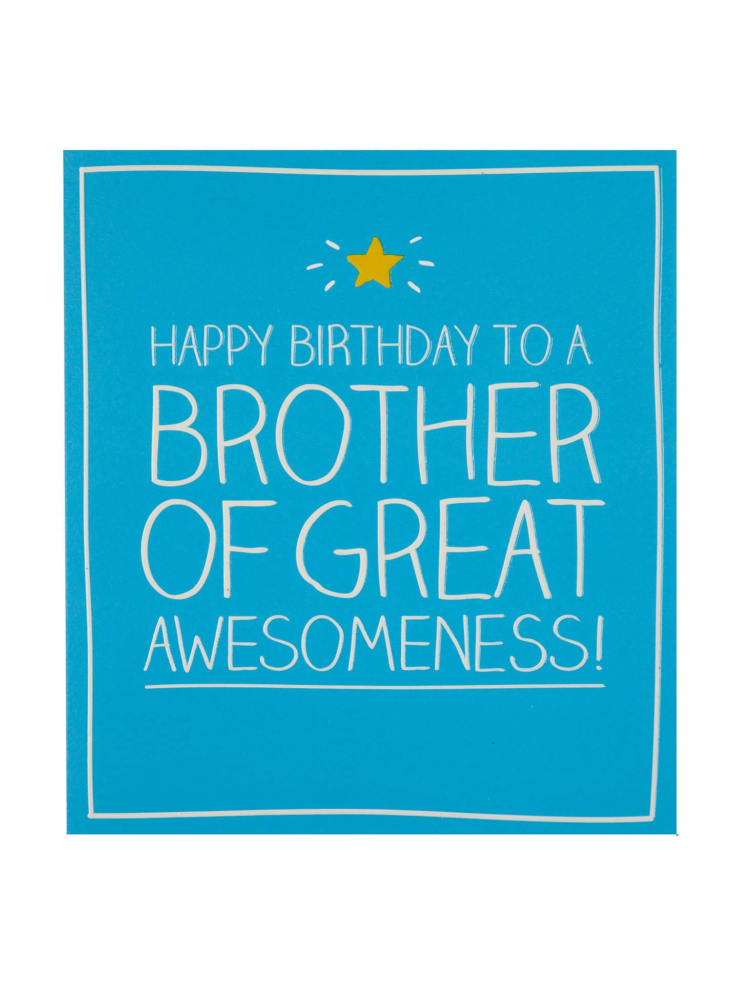 Happy Jackson Brother Birthday Card At John Lewis Partners