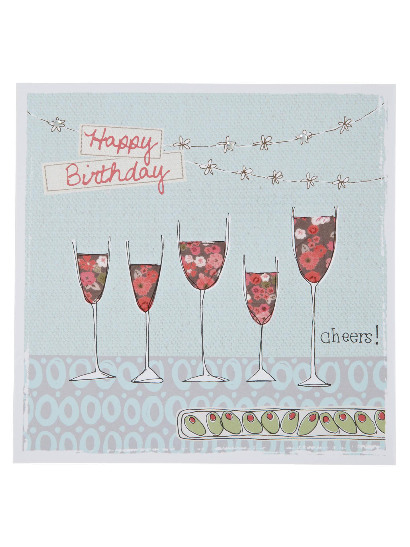Buy Saffron Cheers Wine Birthday Card Online At Johnlewis