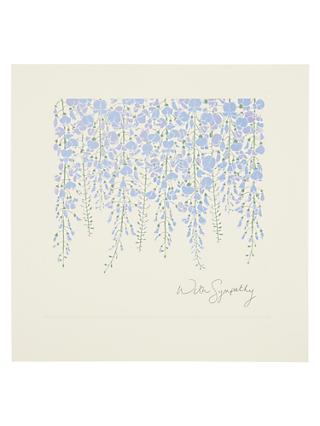 Woodmansterne Hanging Wisteria Sympathy Card