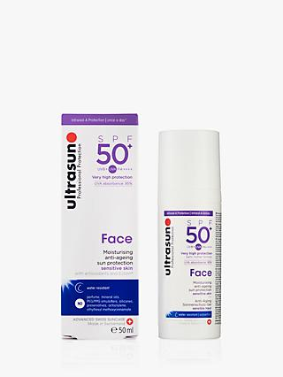 Ultrasun SPF 50+ Anti-Ageing Ultra Sensitive Facial Sun Cream, 50ml