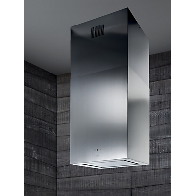Elica Kuadra Island 43 Chimney Cooker Hood, Stainless Steel