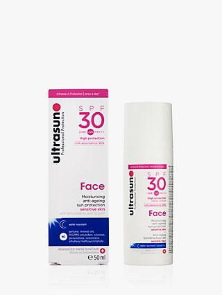 Ultrasun SPF 30 Anti-Ageing Very Sensitive Facial Sun Cream, 50ml