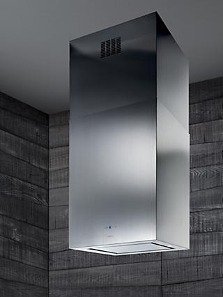 Elica Kuadra Island 60 Chimney Cooker Hood, Stainless Steel