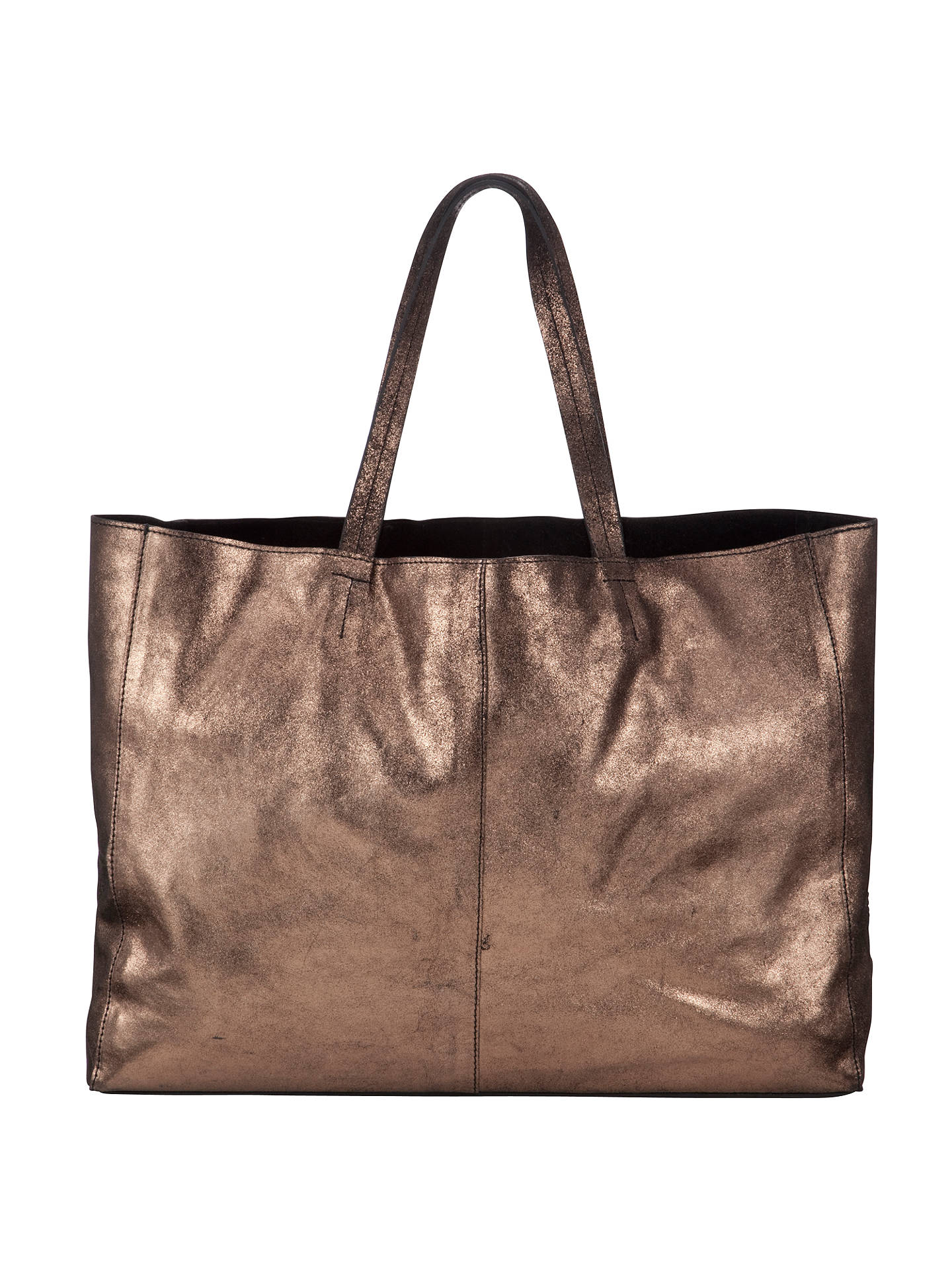 Buy Collection WEEKEND by John Lewis Morgan Leather Tote Bag, Bronze Online at johnlewis.com
