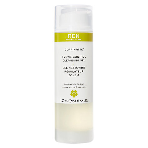 Buy REN Clarimatte T-Zone Control Cleansing Gel, 150ml Online at johnlewis.com