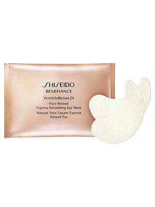 Shiseido Benefiance WrinkleResist24 Smoothing Eye Mask, Pack of 12
