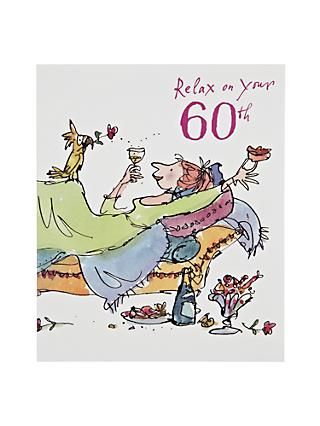 Woodmansterne Relaxing Lady 60th Birthday Card