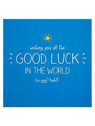 Good luck greetings cards john lewis partners happy jackson good luck card m4hsunfo