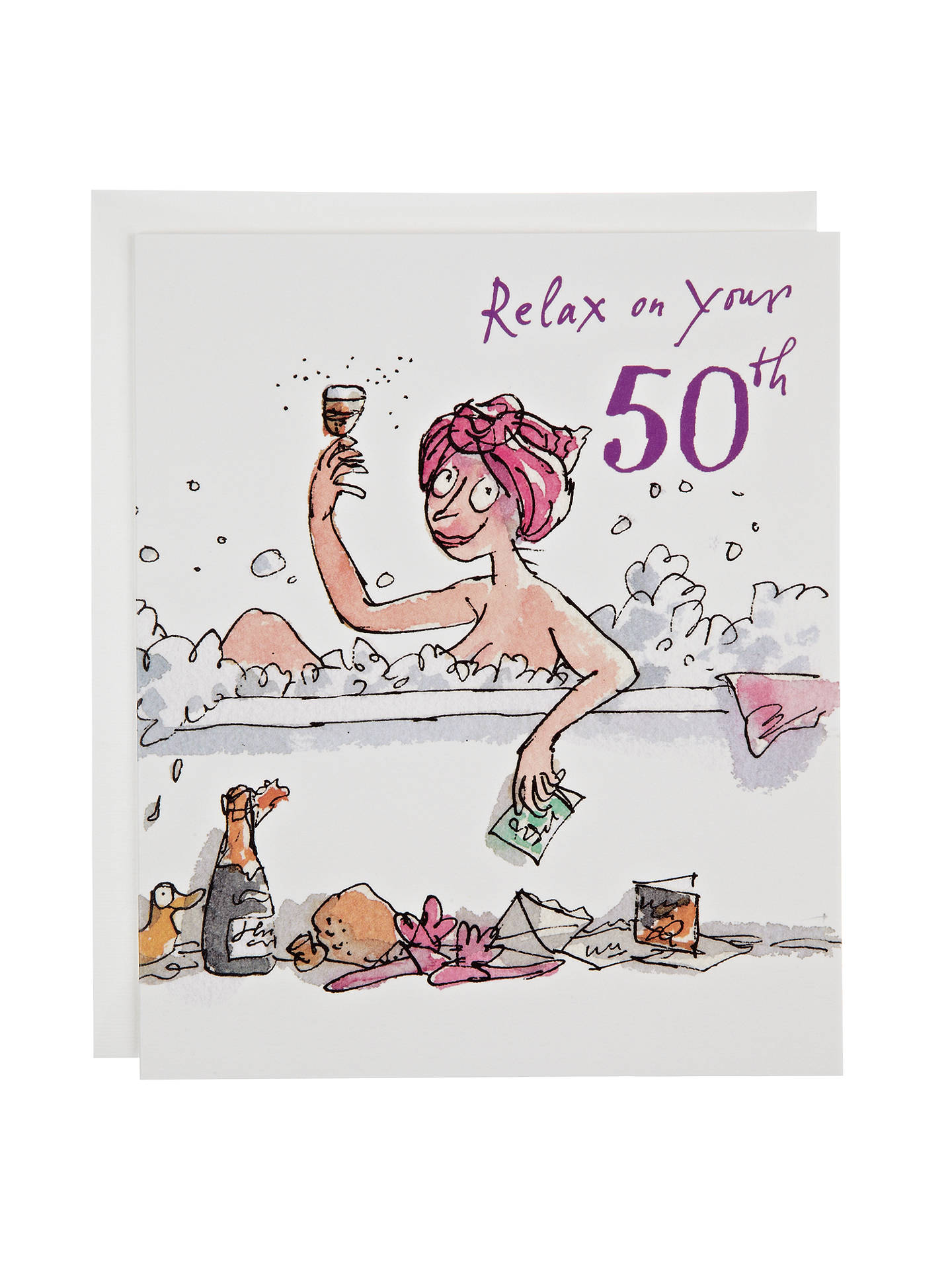 Buy Woodmansterne Lady In Bubble 50 Birthday Card Online At Johnlewis