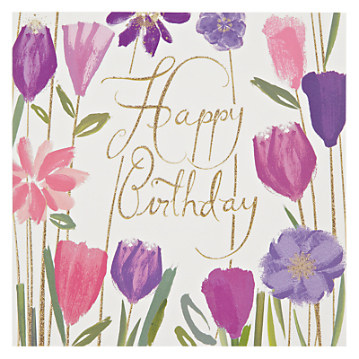 Product photo of Woodmansterne bizzy lizzy flowers birthday card