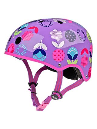 Micro Scooter Floral Dot Safety Helmet, Small