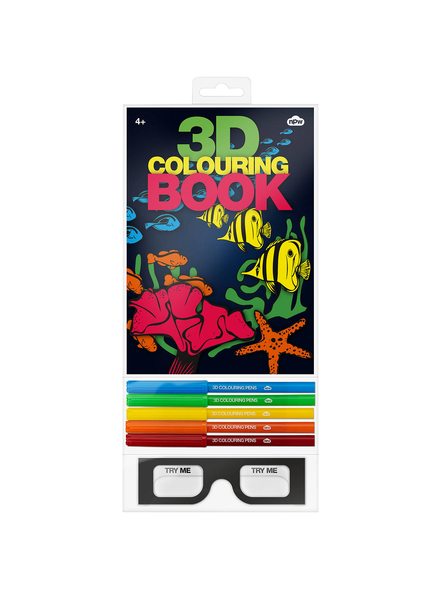 Buy3D Colouring Book Online at johnlewis.com