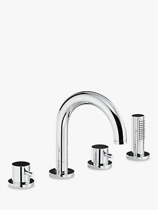 Abode Harmonie Thermostatic Deck Mounted 4 Hole Bathroom Shower Mixer