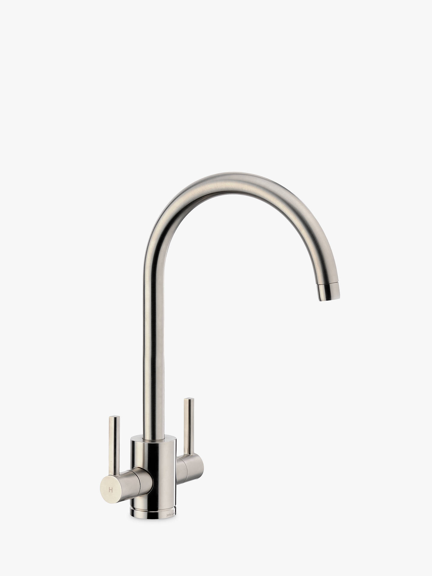 Buy John Lewis & Partners Urbana 2 Lever Kitchen Mixer Tap, Brushed Nickel Online at johnlewis.com
