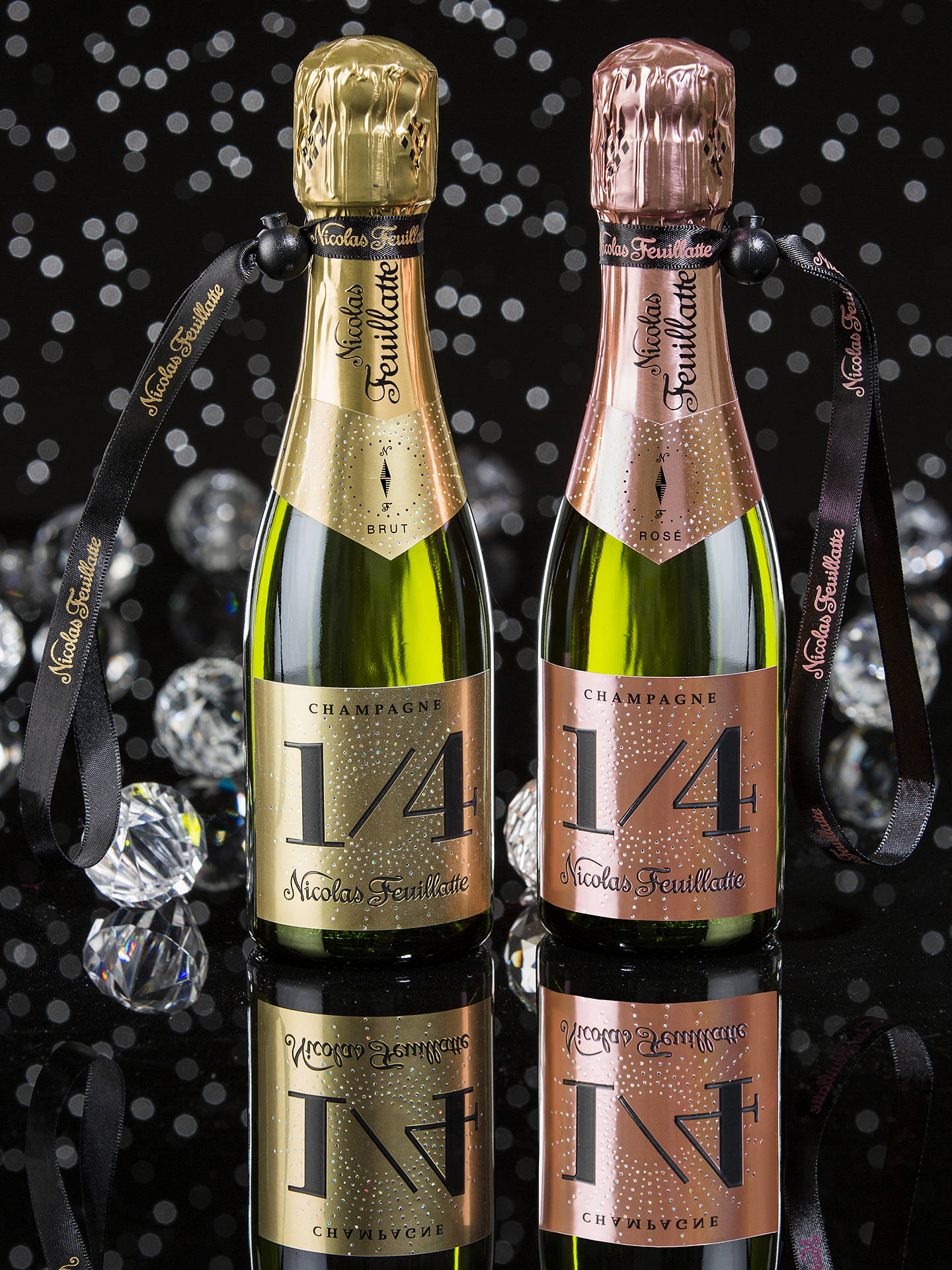 Buy Champagne Nicolas Feuillatte One Fo(u)r Brut with a Jacket, 20cl Online at johnlewis.com