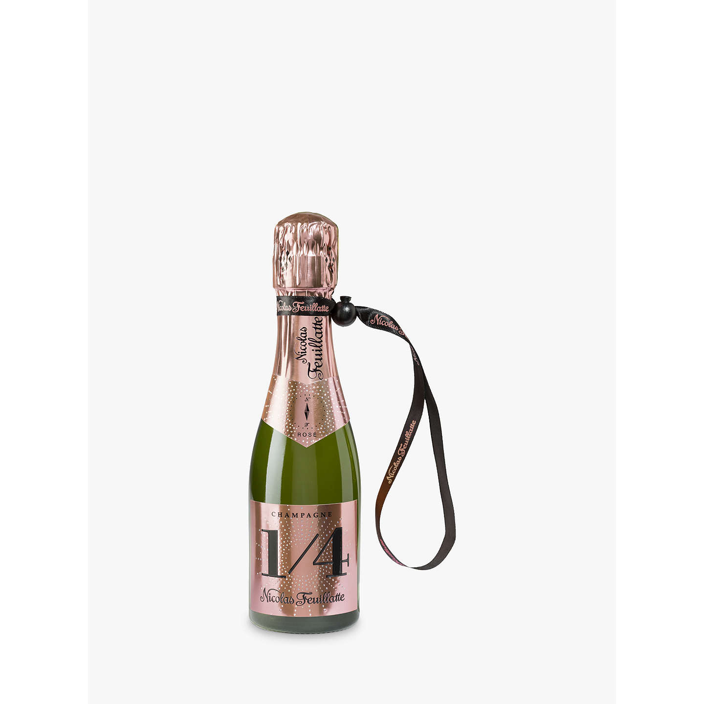 BuyChampagne Nicolas Feuillatte One Fo(u)r Rose with a Jacket, 20cl Online at johnlewis.com
