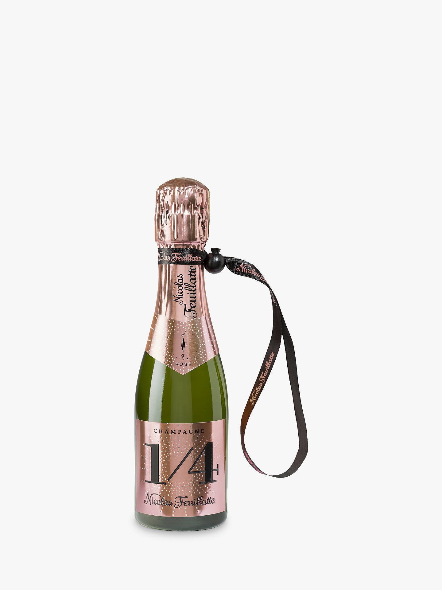 Buy Champagne Nicolas Feuillatte One Fo(u)r Rose with a Jacket, 20cl Online at johnlewis.com