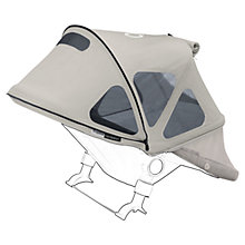 Buy Bugaboo Donkey Breezy Sun Canopy, Grey Online at johnlewis.com
