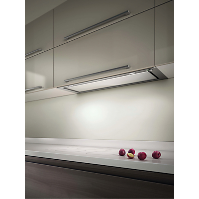 Image of Elica Hidden 120 Built-In Cooker Hood, Stainless Steel/ White Glass