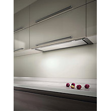 Buy Elica Hidden 120 Built-In Cooker Hood, Stainless Steel/ White Glass Online at johnlewis.com