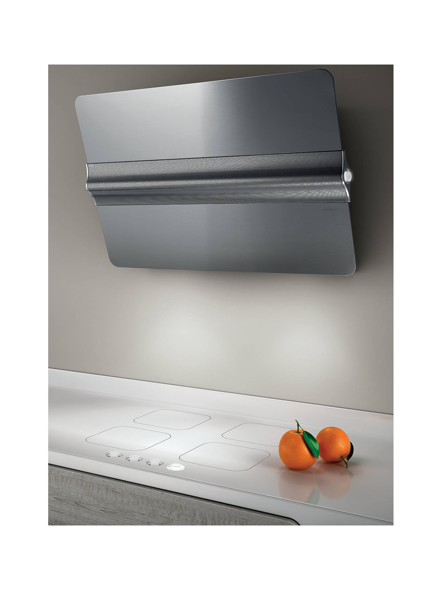 BuyElica Barre Cooker Hood, Stainless Steel Online at johnlewis.com