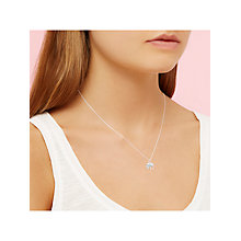 Buy Estella Bartlett Midnight Jungle Elephant Pendant Necklace, Silver Online at johnlewis.com