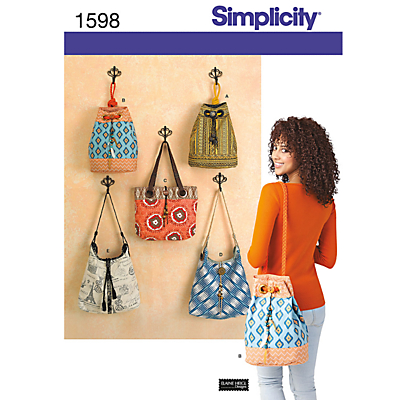 Product photo of Simplicity bags sewing leaflet 1598