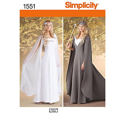 Simplicity Costume Dressmaking Leaflet, 1551