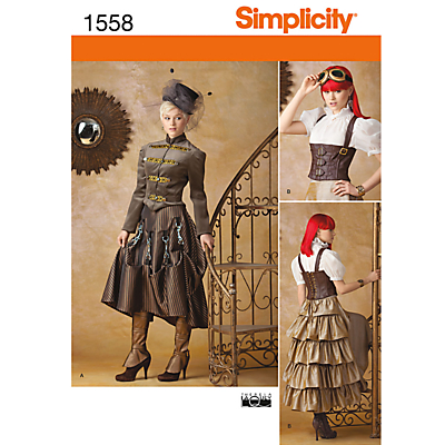 Vintage Inspired Halloween Costumes Simplicity Costume Dressmaking Leaflet 1558 £6.95 AT vintagedancer.com