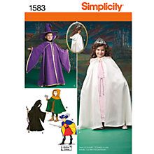 Buy Simplicity Children's Costume Sewing Leaflet, 1583, A Online at johnlewis.com