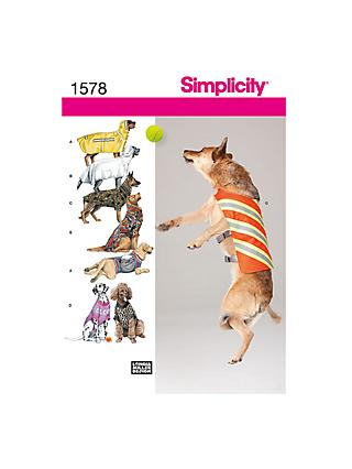 Simplicity Dog Clothing Sewing Pattern, 1578