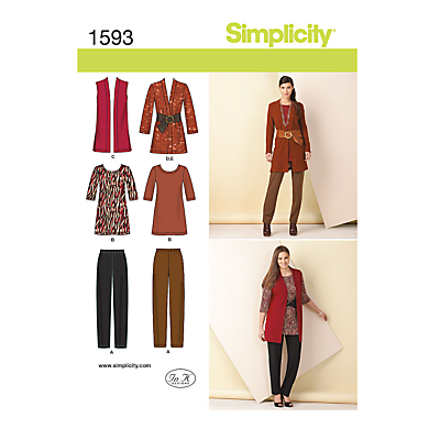 Image of Simplicity Womens' Coordinates Sewing Pattern, 1593