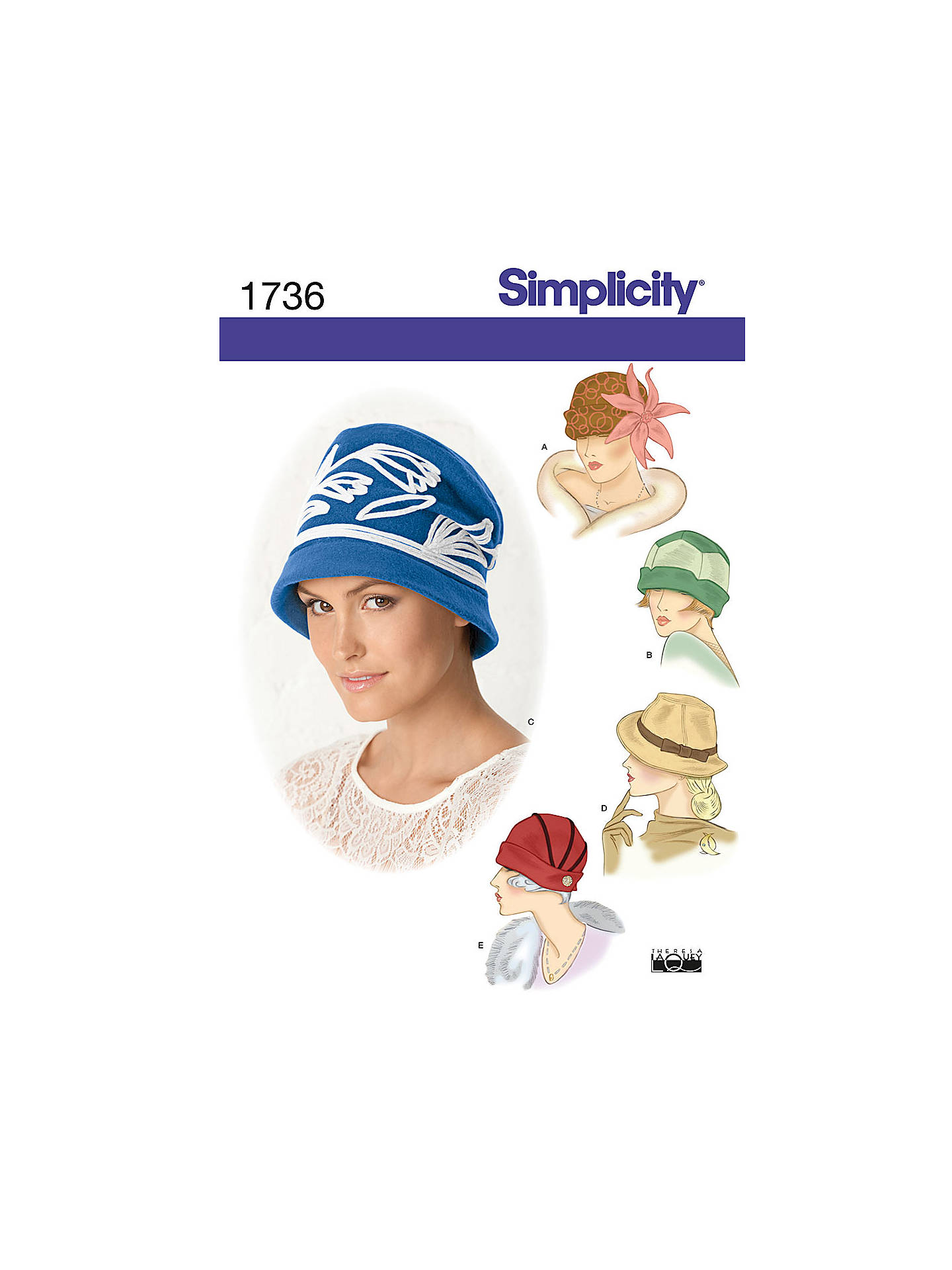 fda08a28674 Buy Simplicity Hats In Three Sizes Sewing Leaflet