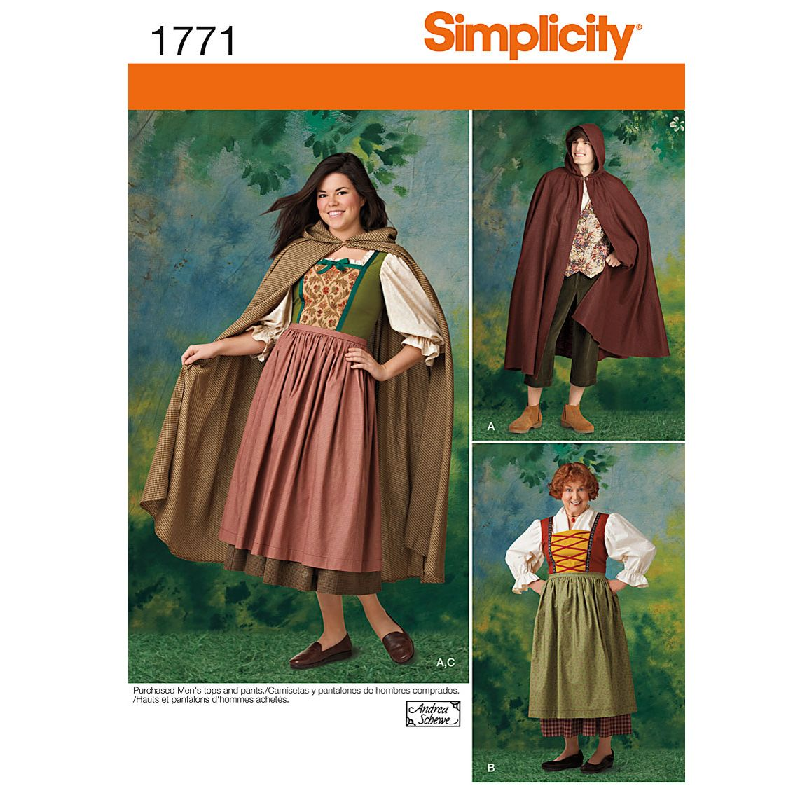 Simplicity men womens robin hood costume sewing pattern 1771 buysimplicity men womens robin hood costume sewing pattern 1771 online at johnlewis jeuxipadfo Images
