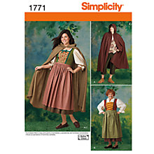 Buy Simplicity Men & Women's Robin Hood Costume Sewing Pattern, 1771 Online at johnlewis.com