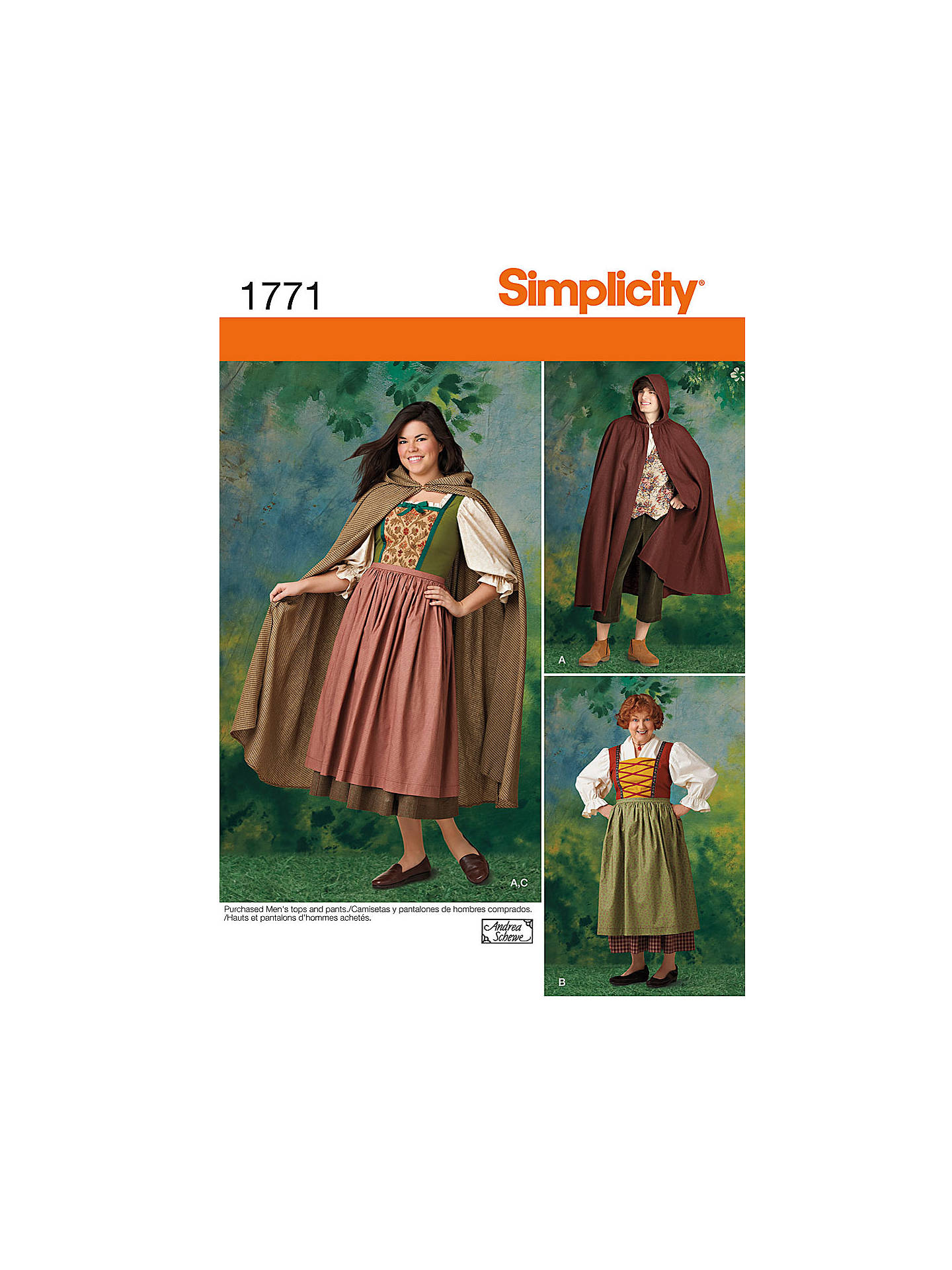 c137959c0aa Buy Simplicity Men   Women s Robin Hood Costume Sewing Pattern
