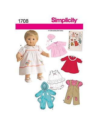 Simplicity Craft Dressmaking Pattern, 1708