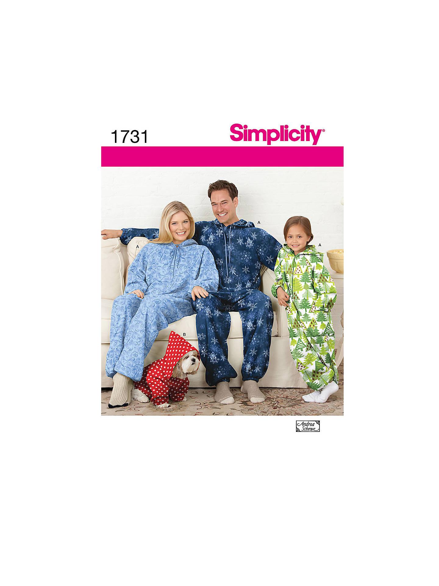 77f15064b2 BuySimplicity Fleece Jumpsuit Sewing Pattern