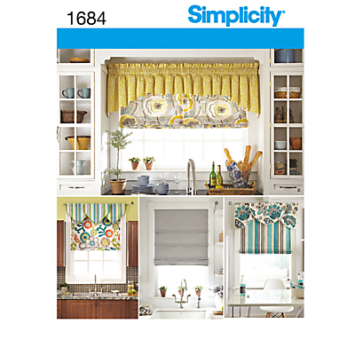Simplicity Blinds Sewing Pattern 1684